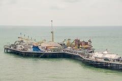 Brighton Pier-Vogelperspektive Stockbilder