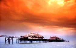 brighton pier west fotografia royalty free