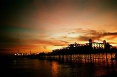 Brighton-Piersonnenuntergang Lizenzfreies Stockbild