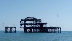 Brighton& x27; pilastro fuori bruciato s Fotografie Stock
