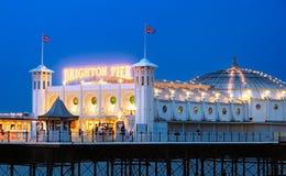 Brighton pir, England Arkivbild