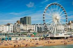 Brighton plaża Obrazy Royalty Free