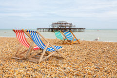 Brighton plaża. Brighton, Anglia Zdjęcia Royalty Free