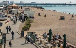 Brighton plaża i deptak, Sussex, Anglia Zdjęcie Royalty Free