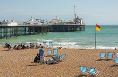 Brighton Plaża i Molo, Anglia Fotografia Royalty Free