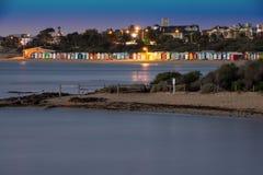 Brighton plaży budy Obrazy Stock