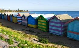 Brighton plaży budy Melbourne Australia Fotografia Royalty Free
