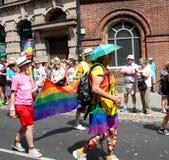 Brighton Pride parade marchers royalty free stock photo