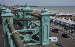 Brighton - the railing and the sea. Royalty Free Stock Images