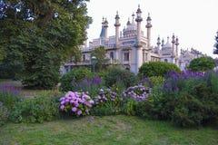 Brighton Royal-Pavilion hörn-sikt Arkivbilder