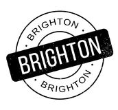 Brighton rubber stamp Stock Photo