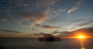 Brighton`s West Pier, England. Royalty Free Stock Photos