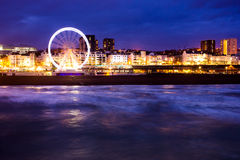 Brighton Seafront. A long exposure taken looking back at the seafront Stock Photo