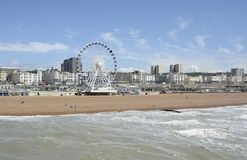 Brighton seafront and beach. England Royalty Free Stock Photo