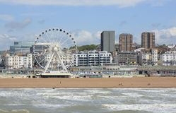 Brighton seafront and beach. England Royalty Free Stock Images
