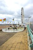 Brighton seafront with crazy golf. England Stock Photography
