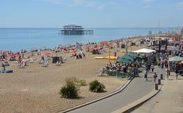 Brighton Seafront, le Sussex est, Angleterre Images libres de droits