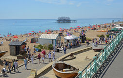 Brighton Seafront, Oost-Sussex, Engeland Stock Afbeelding