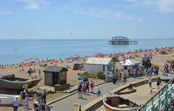Brighton Seafront, Oost-Sussex, Engeland Stock Foto