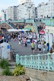 Brighton seafront promenade. Sussex. England Stock Images