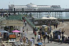 Brighton seafront. Sussex. England Royalty Free Stock Photos
