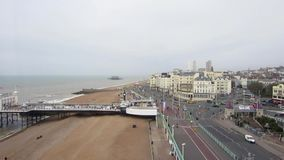 Brighton seafront view from the Brighton Wheel. stock video footage