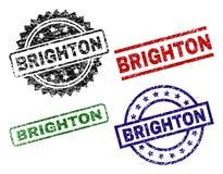 BRIGHTON Seal Stamps texturisé grunge Illustration Libre de Droits