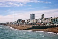 Brighton Seaside Lizenzfreie Stockbilder
