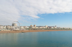Brighton seen from the pier Stock Image