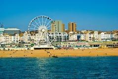 Brighton-Seeseite Stockfoto