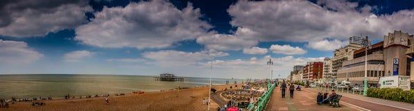 Brighton skyline. Panoramic view of a Brighton - English seaside town Stock Images