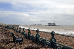 Brighton Storm Damage Royalty Free Stock Images