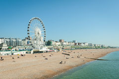 Brighton-Strand Lizenzfreie Stockfotos