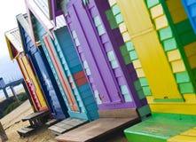 Brighton-Strand-Hütten Stockfotografie