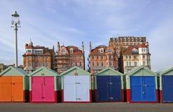 Brighton-Strand-Hütten Stockbild