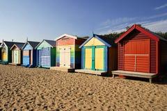 Brighton-Strand, Melbourne lizenzfreie stockbilder