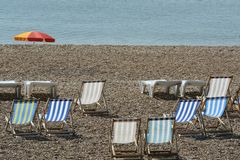 Brighton-Strand. Sussex. England Stockbild