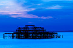Brighton Sun Set royalty free stock photos