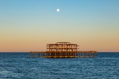 Brighton Sunset images stock