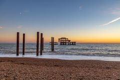 Brighton Sunset photos libres de droits