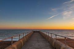 Brighton Sunset Over The Sea photos libres de droits