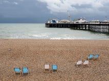 BRIGHTON, SUSSEX/UK DEL ESTE - 24 DE MAYO: Opinión Brighton Pier en Bri Fotos de archivo libres de regalías