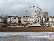 BRIGHTON, SUSSEX/UK - 15 FÉVRIER : Brighton après la tempête dedans Photo stock