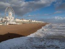 BRIGHTON, SUSSEX/UK - 15 FÉVRIER : Brighton après la tempête dedans Photographie stock