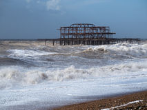 BRIGHTON, SUSSEX/UK - 15. FEBRUAR: Brighton nach dem Sturm herein Stockfotos