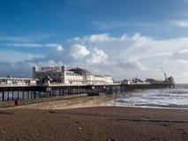 BRIGHTON, SUSSEX/UK - 15. FEBRUAR: Brighton nach dem Sturm herein Stockfoto