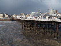 BRIGHTON, SUSSEX/UK - 15 FEBRUARI: Brighton na het onweer binnen Stock Foto