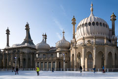 BRIGHTON, SUSSEX/UK - JANUARY 27 : People ice skating at the Roy Royalty Free Stock Photography