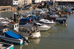 BRIGHTON, SUSSEX/UK - JANUARY 27 : View of Brighton Marina in Br Royalty Free Stock Images