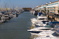 BRIGHTON, SUSSEX/UK - JANUARY 27 : View of Brighton Marina in Br Royalty Free Stock Photo